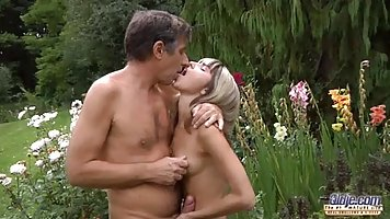 Doris Ivy is getting fucked in her garden while no one is watching her in action