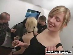 Amateur girls are having group sex with their friends not knowing that someone is making a video