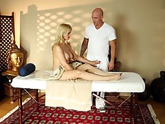 Sarah Vandella likes her massage therapist's dick especially when it is deep inside her mouth