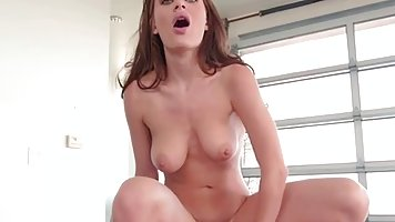 Gorgeous babe with long hair, Lana Rhoades needs to ride a huge cock, every day