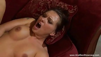 Cock loving woman, Katja Kassin got fucked in the ass while she was rubbing her pussy
