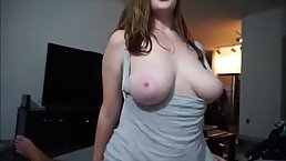 Horny woman is riding dick and her tits are bouncing up and down with her