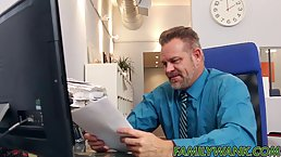 Bambi Brooks is having casual sex with her boss in his office, during a lunch break