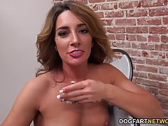 Small titted girl, Savannah Fox is sucking dick through a gloryhole and enjoying a lot