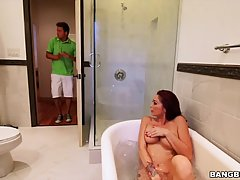 Karlee Grey invited her hot step- mom to join her and her boyfriend in a threesome